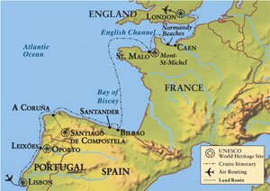 Map Of Portugal Spain France.Utaa Online Community 75th Anniversary European Coastal Civilizations