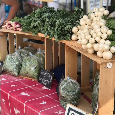 produce at farmer's market Instagram Photo