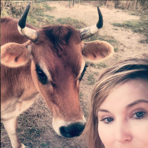 pic of woman and heifer