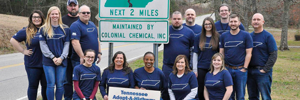 Adopt-a-highway volunteers